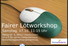 "Photo of Fairer Lötworkshop in ""Die jungen Denker"" am 17. Okt."