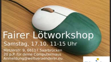 "Photo of Fairer Lötworkshop in ""Die jungen Denker"" am 17. Okt."